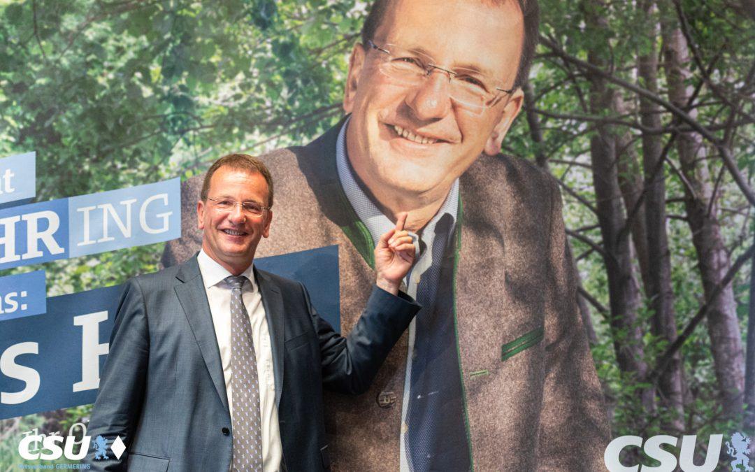 Germeringer CSU nominiert Andreas Haas einstimmig zum OB-Kandidaten und läutet Wahlkampf ein